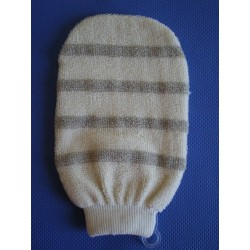 Cotton scrub mitt