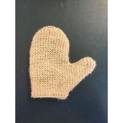 White superior horsehair mitt