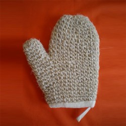White superior horsehair lined mitt
