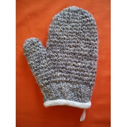 Grey horsehair lined mitt