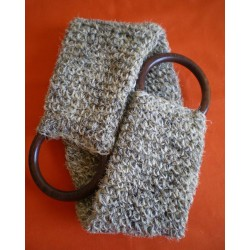 Grey horsehair double strap